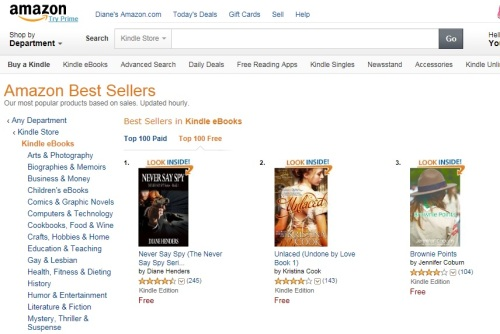NSS #1 in all Kindle ebooks