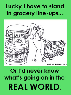 grocery lineup