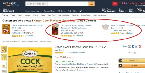 Amazon has a dirtier mind than I do.