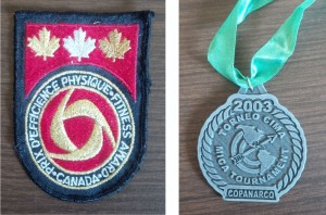 I'm still proud of these two: ParticipACTION's Award of Excellence and a silver medal from the Championships of the Americas Archery team event