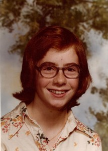 The 1970s were not kind to me. Note the massive zit, dead-centre of my forehead.
