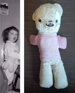 Teddy then and now. He's been through quite a few surgeries, but he's still in one piece.