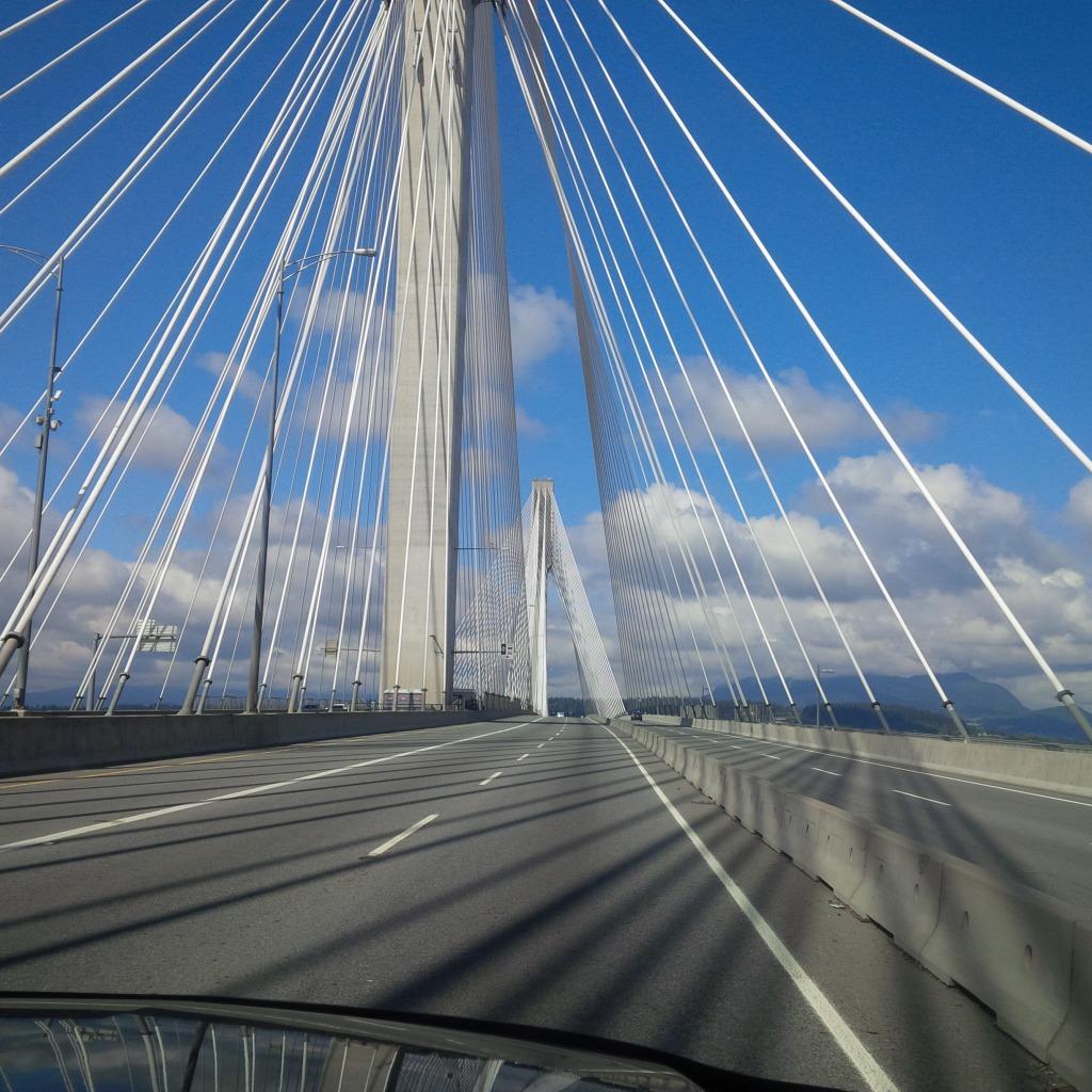 On the Port Mann Bridge