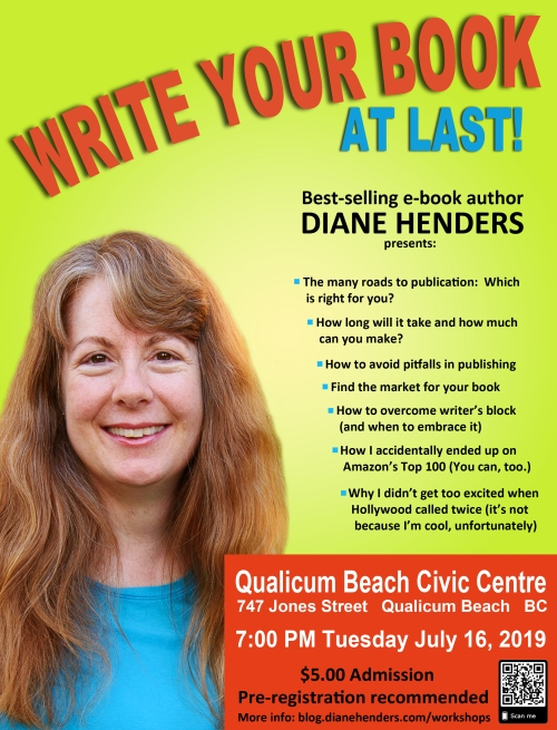 Publishing and writing presentation by bestselling e-book author Diane Henders